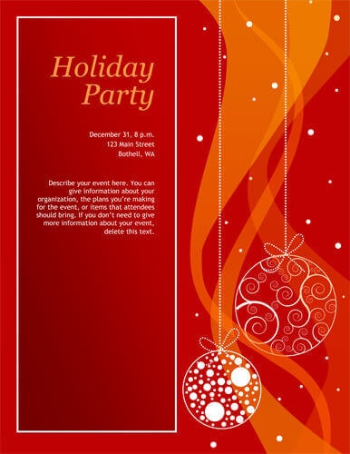 Red Holiday Party Invitation