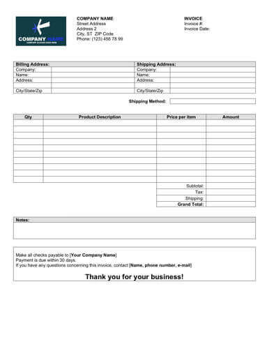 Charlette beasley published april 14, 2020 charlette has over 10 years of experience in accounting and finance and 2 years of partnering with hr leaders on freelance projects. Sales Invoice Templates 27 Examples In Word And Excel Hloom