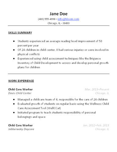 child care resume sample 3 free baby sitter resume samples in word
