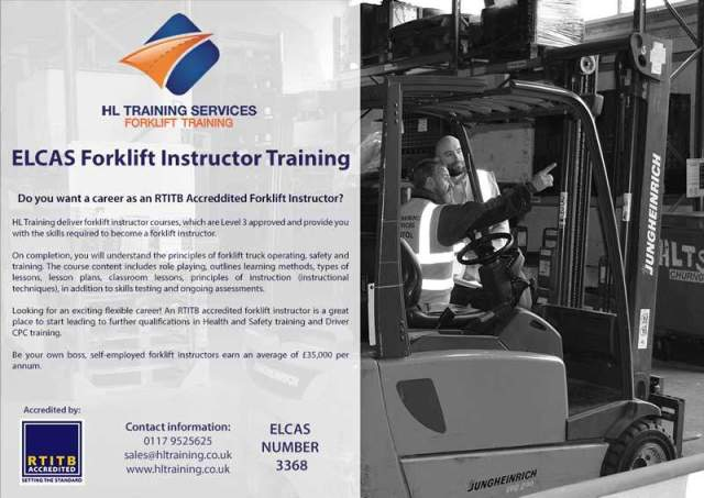 ELCAS Training Provider – Bristol, Forklift Instructor