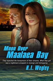 H L Wegley: Moon Over Maalaea Bay
