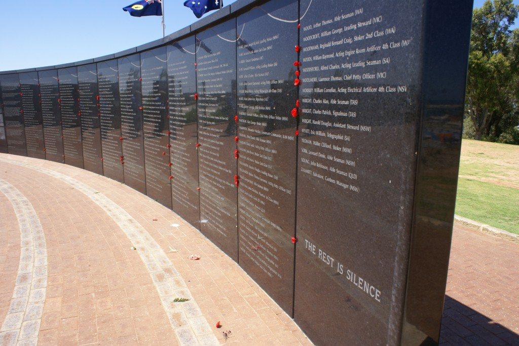 Completed The Wall Of Remembrance HMAS Sydney II