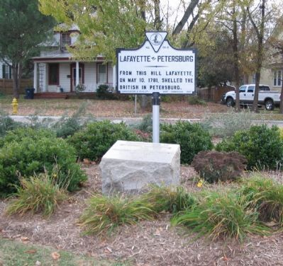 Lafayette At Petersburg Marker Photo, Click for full size
