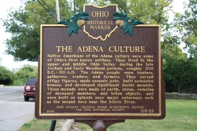 Campbell Memorial Park The Adena Culture Historical Marker