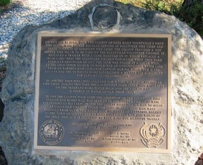 Yountville's First Fire House Marker Photo, Click for full size