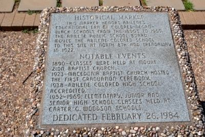 Abilene African-American Schools Historical Marker