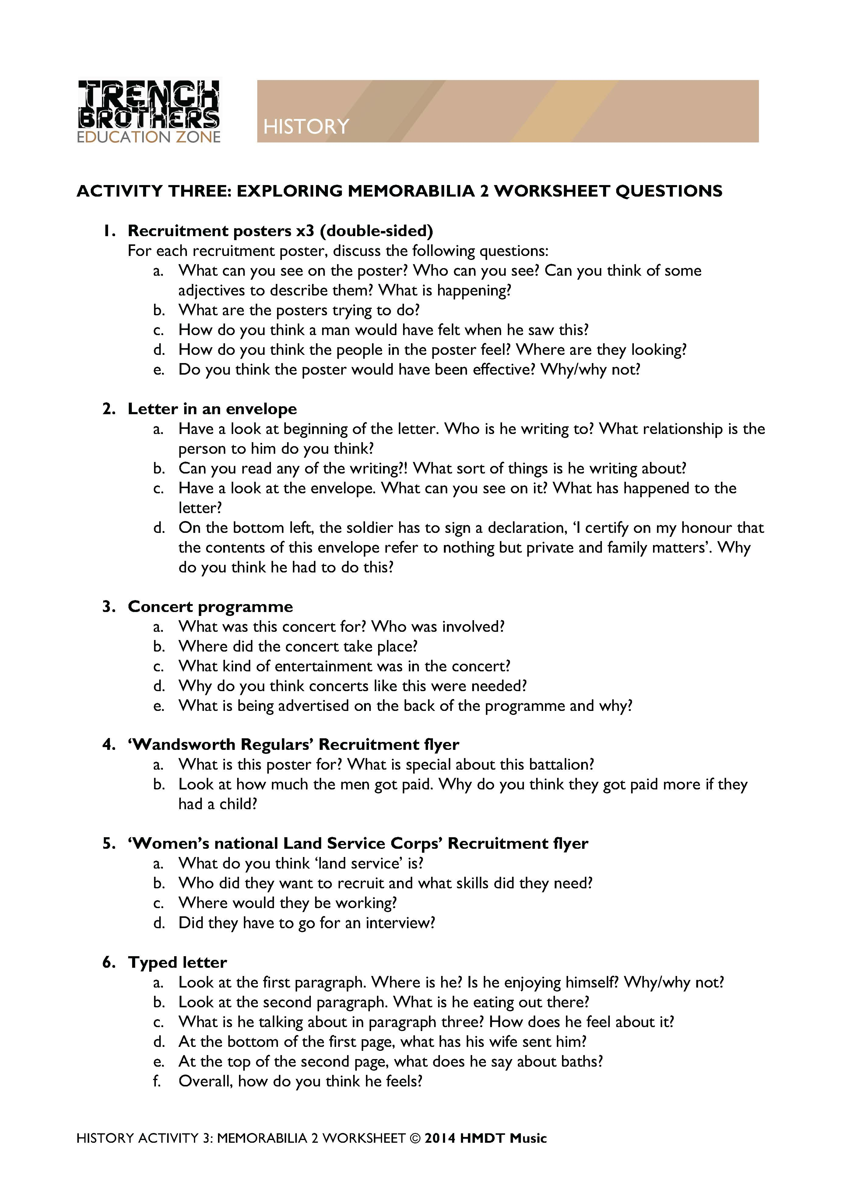 H Brothers Worksheets