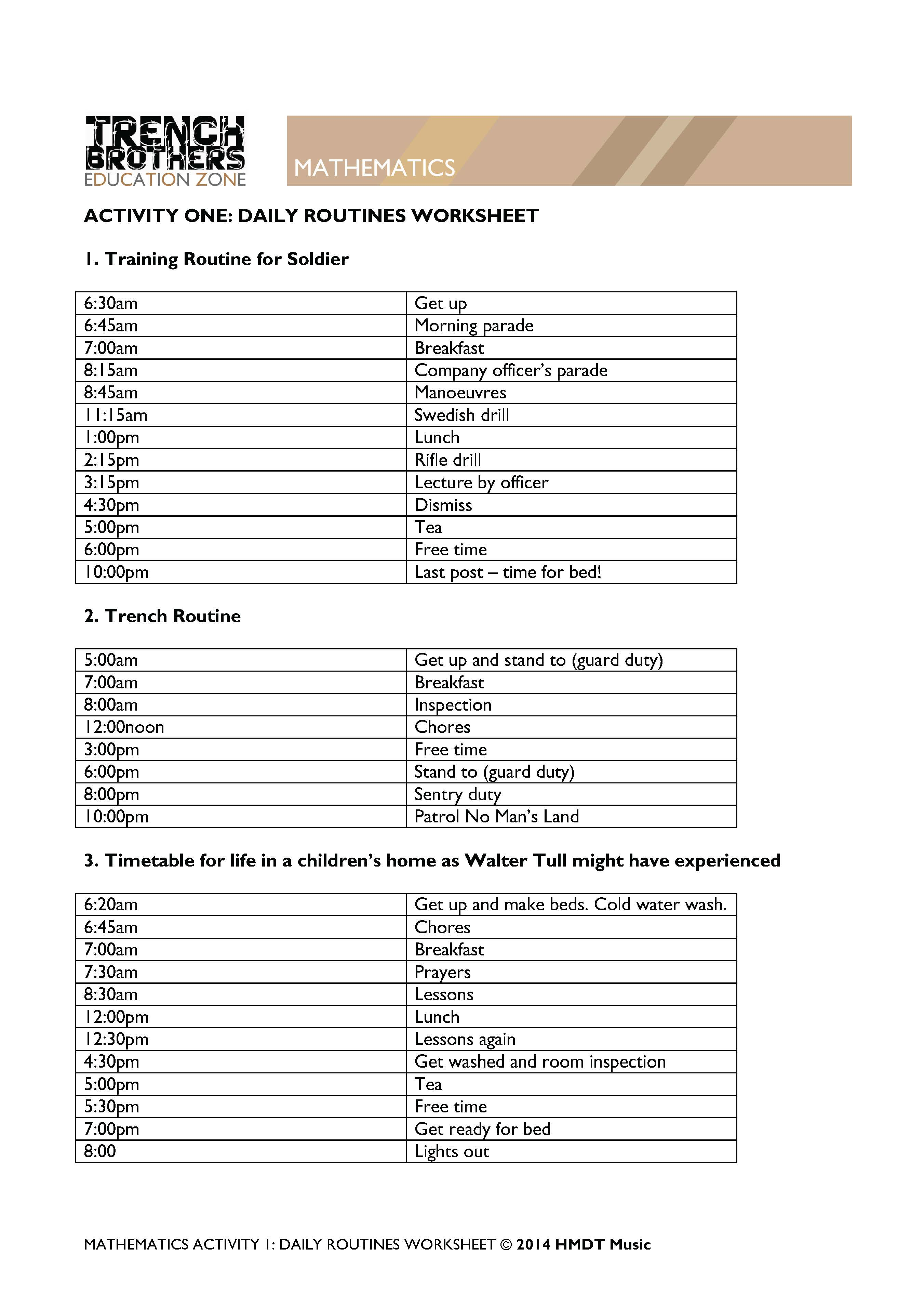 Best Free Printable World War 1 Worksheets