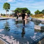 「下高井戸おおぞら公園」新しい公園のじゃぶじゃぶ池・流れで遊ぶ!