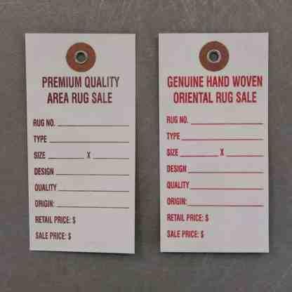 DuPont™ Tyvek® Promotional Sale Rug Tags