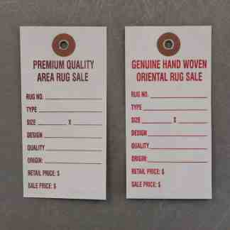 DuPont™ Tyvek® Promotional Sale Rug Tags
