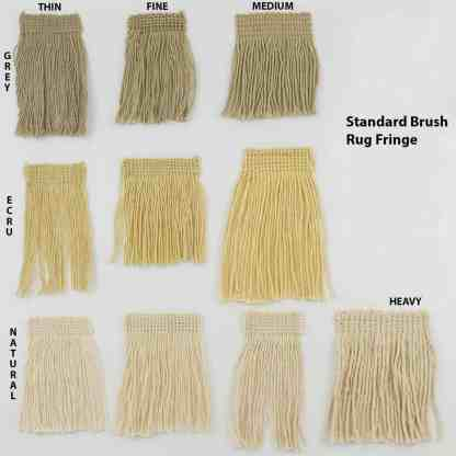 STANDARD BRUSH RUG FRINGE