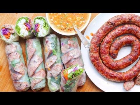 Fresh Spring Rolls w/ Hmong Sausage