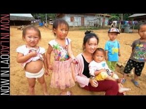 Hmong Village Laos - The Hmong of Ban Long Lao Luang Prabang Laos S.E.Asia