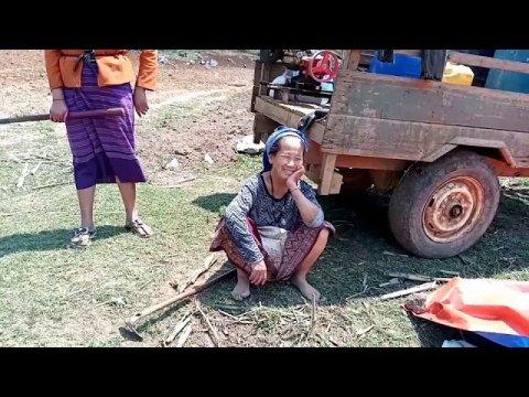 coj nej mu sai Hmong cog pob kws naw ( we're going to show you the Hmong growing  corn )