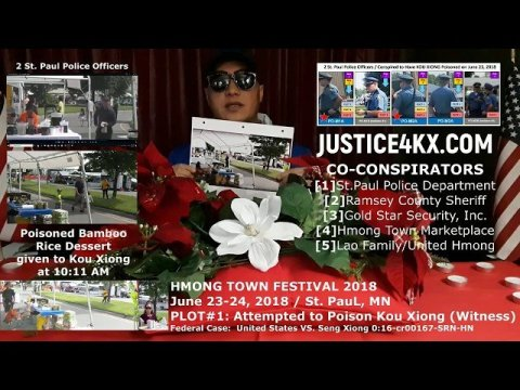 Hmong - Plot to have KOU XIONG (Federal Witness) murdered