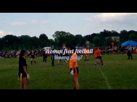 Women fleet football at Hmong July4, celebrate 2019
