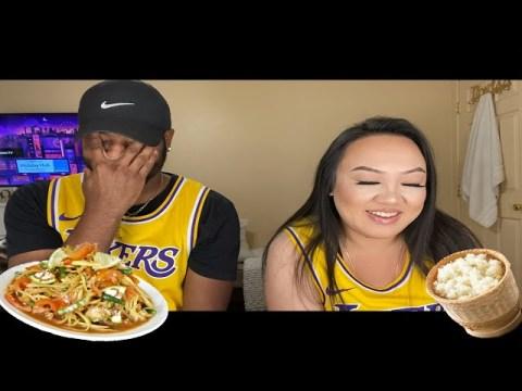 BLACK BOYFRIEND RATES HMONG FOOD