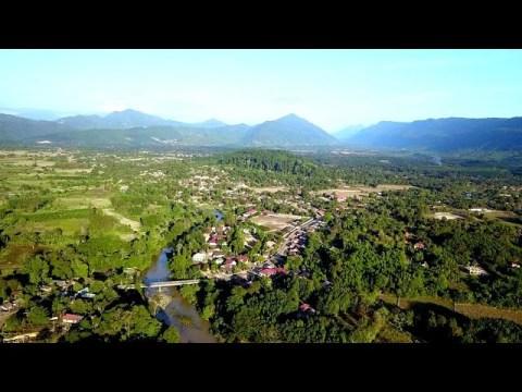loob xas chaw tshua Hmong Laos old village by drone mavic pro