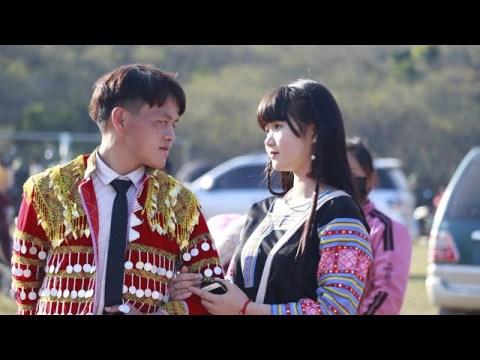 Interview Hmong girl at the Hmong New Year 2021-xaam phaj hluas nkauj hluas nraug hmoob Nyab Laj