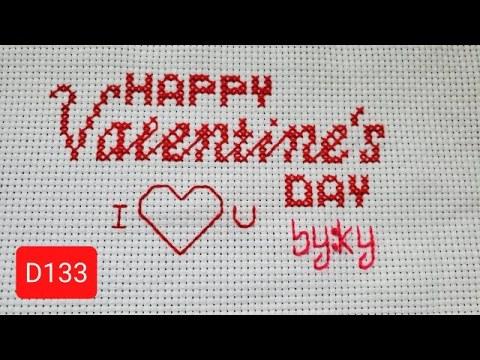 valentine cross stitch ❤ xaws paj ntaub ntawv hnub kev hlub D133 02.12.2021