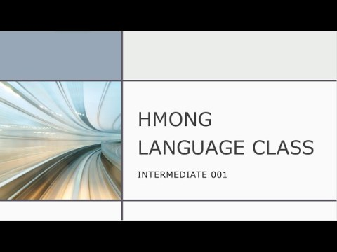 Zoom Classes - Intermediate Class 001 - Learn the Hmong language