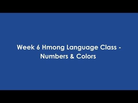 Hmong Language Class - Week 6