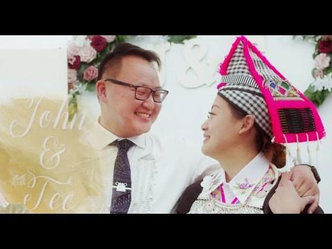 John & Tee's Traditional Hmong wedding - Cog lus