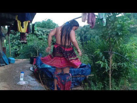 Hmong girls go to work to take a shower