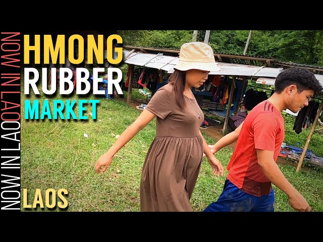 Hmong Rubber Market Laos | Now in Lao