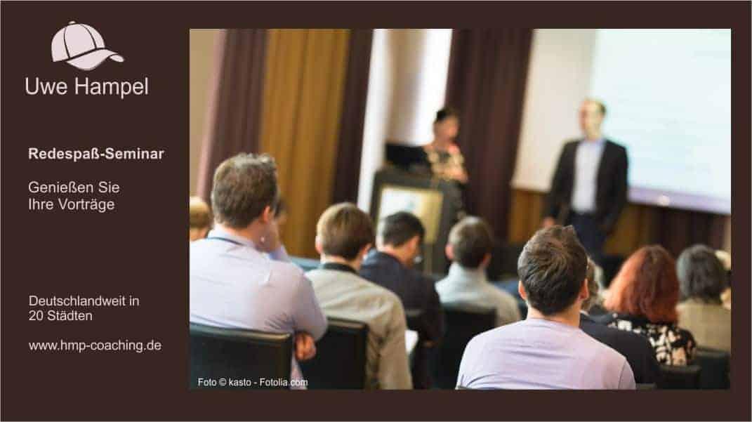 Redespaß - Seminar: Genießen Sie Ihre Vorträge. Lampenfieber, Redeangst überwinden, Präsentieren, Präsentation halten, frei reden, Sprechangst, Angst vor Vorträgen, Angst vor Präsentation, Reden halten, Selbstbewusstsein stärken, frei vor Menschen reden