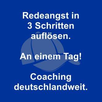 Redeangst Kurzzeit-Coaching mit Erfolgsgarantie.