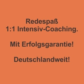 Redespass 1:1 Intensiv Coaching mit der PPR Methode