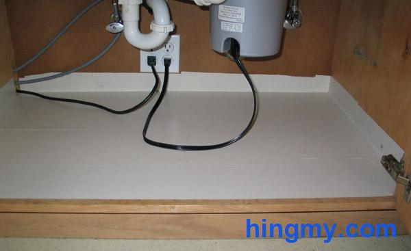 water proofing the under sink cabinet