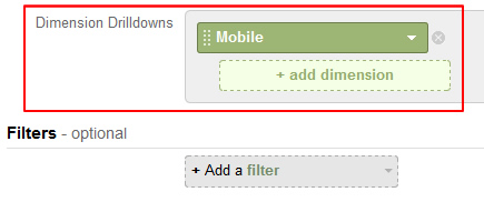 Adding Dimensions to a Custom Report in Google Analytics