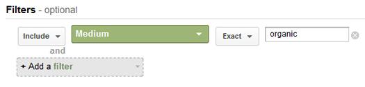 Filtering Traffic in a Custom Report in Google Analytics
