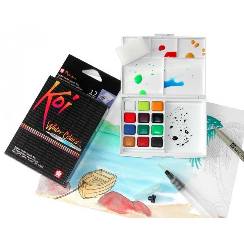 Buy Sakura Koi Pocket Field Sketch Box 12 Shades Online