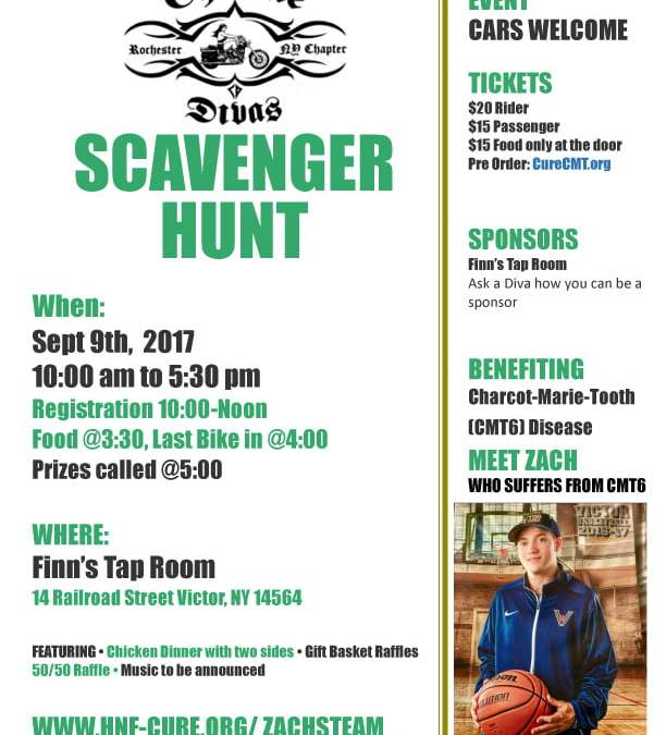 Scavenger Hunt Victor, New York: September 9, 2017