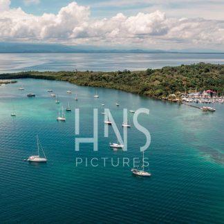 Panama Bocas del Toro Marina Drone