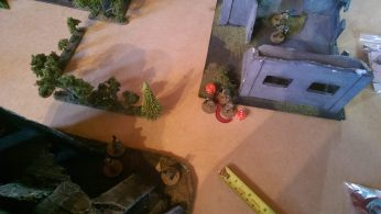 The investigation team find nothing except that they are under fire. Two soldiers go down