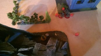 Across the board a M203 shell takes out the medic and both casulties