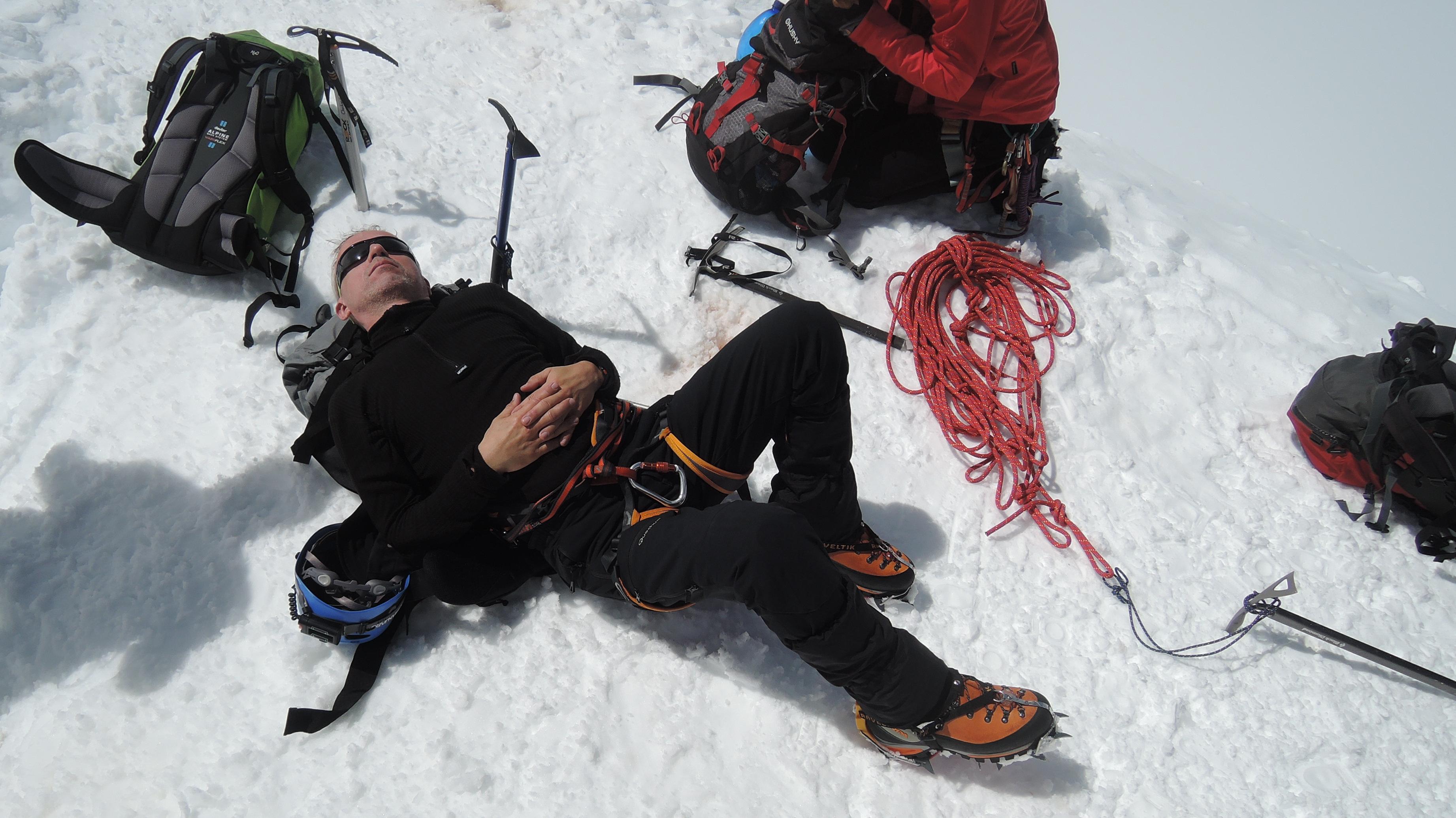 před záverečným sestupem údolím Bossonského ledovce