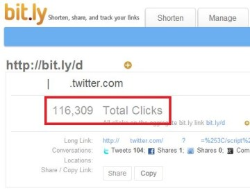 Picture about All 'bit.ly' Links Are Suspect and Should not be Clicked