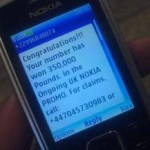 Picture about SMS - Your Mobile Number has Won Huge Amount of Money