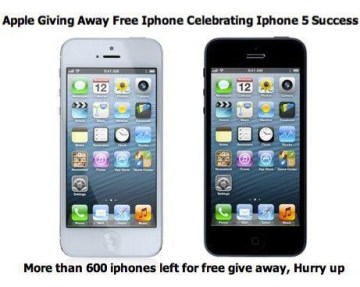 Picture about Apple Giving away Free iPhone