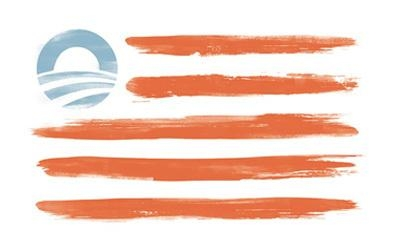 Picture about US President Barack Obama Redesigned American Flag