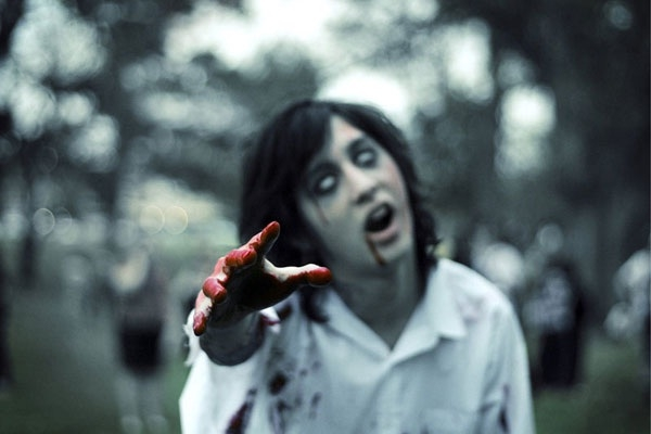 Picture about Zombie Apocalypse, Dead Bodies Rising from Graves