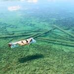 Picture of Crystal-clear Flathead Lake in Montana