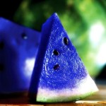 Picture about Blue Watermelon, the Japanese Moon Melon