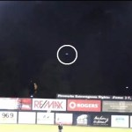Picture about UFO Spotted Hovering in a Baseball Game in Canada